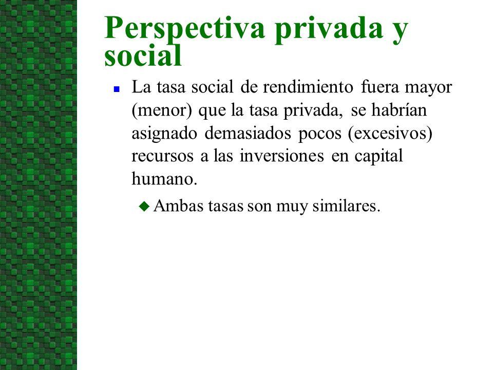 Perspectiva privada y social