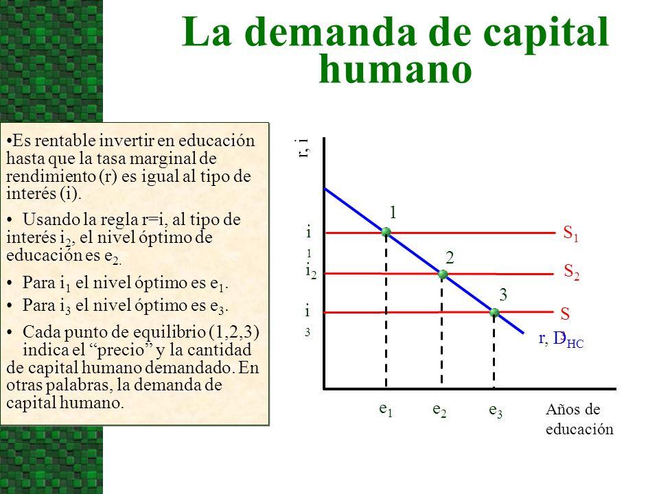 La demanda de capital humano
