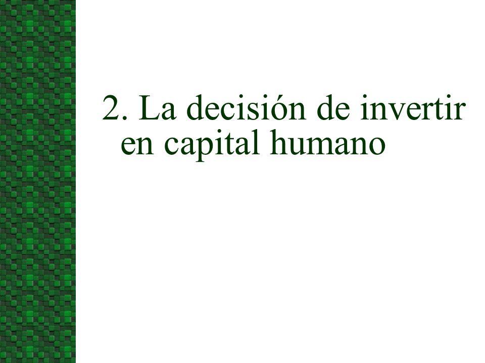 2. La decisión de invertir en capital humano