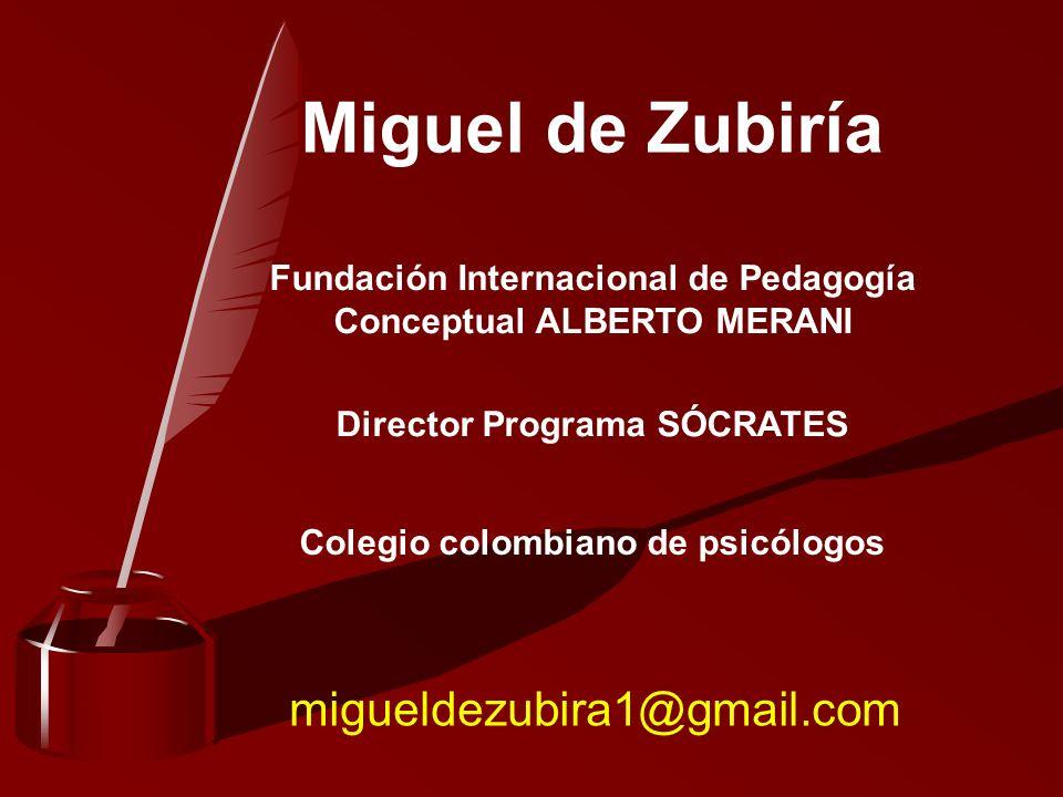 Miguel de Zubiría migueldezubira1@gmail.com