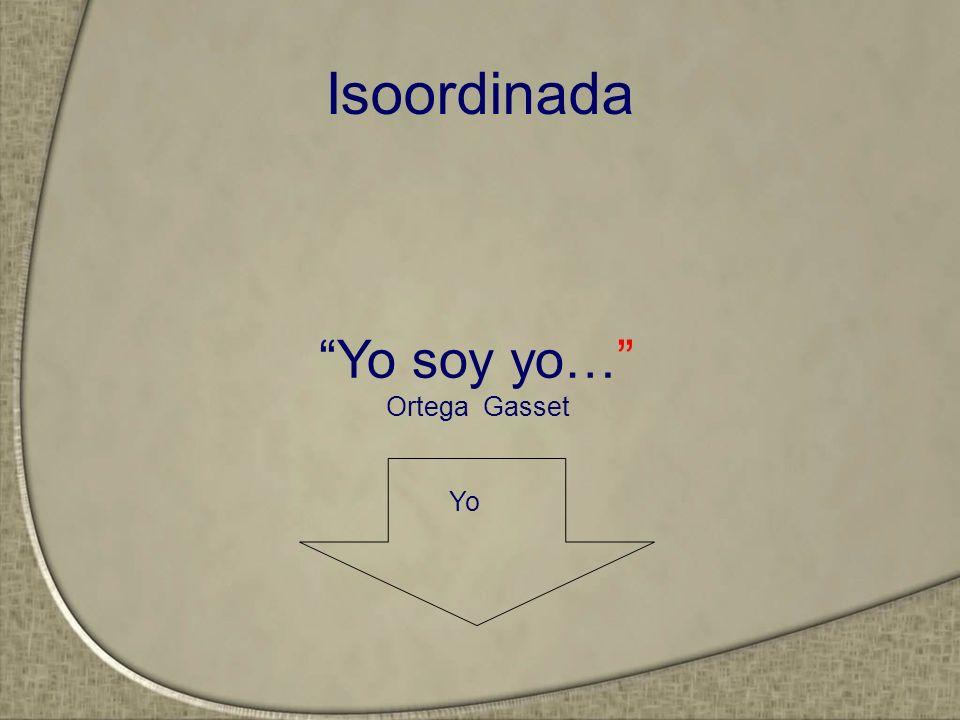 Isoordinada Yo soy yo… Ortega Gasset Yo