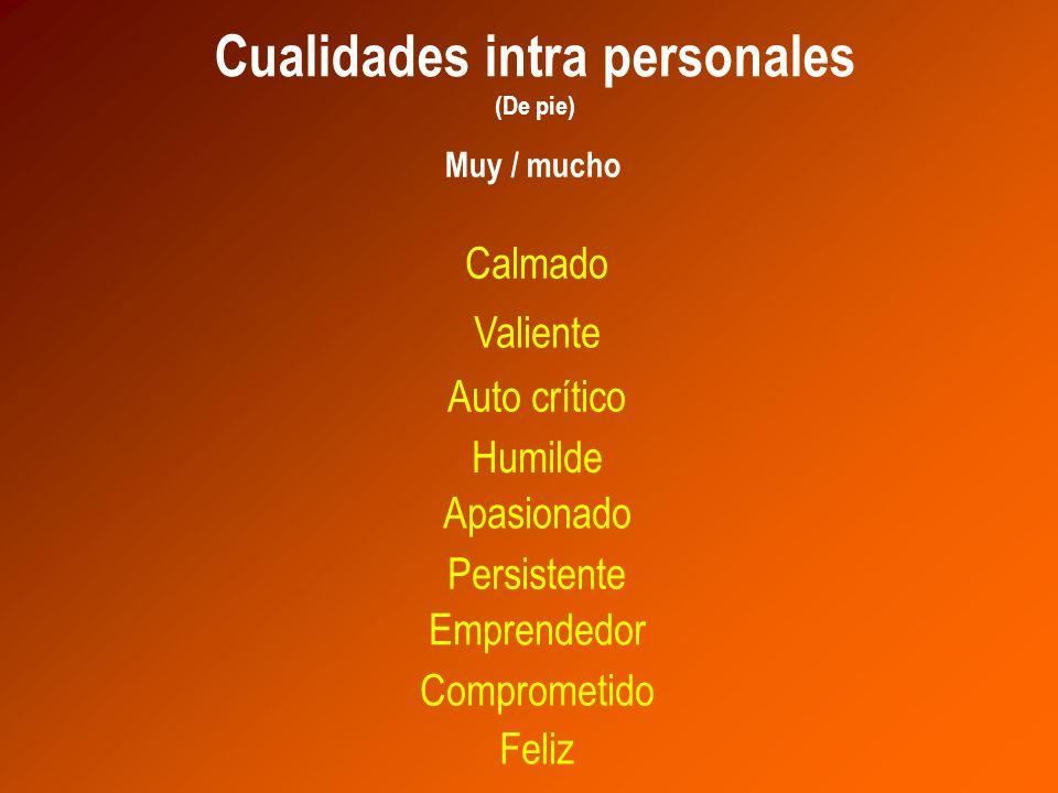 Cualidades intra personales