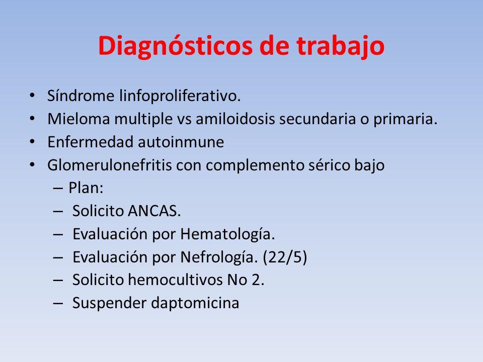 Diagnósticos de trabajo