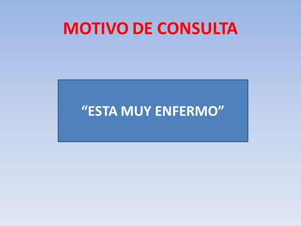 MOTIVO DE CONSULTA ESTA MUY ENFERMO