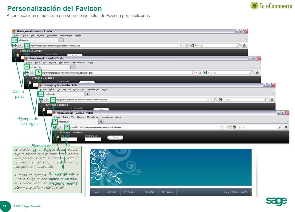 Personalización del Favicon