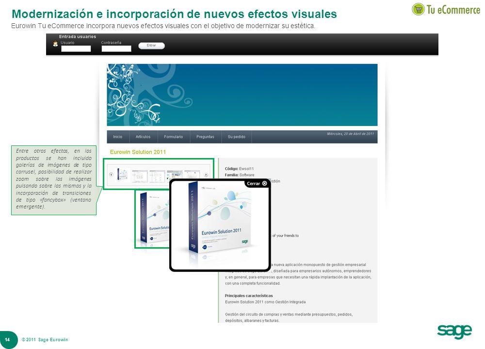 Modernización e incorporación de nuevos efectos visuales