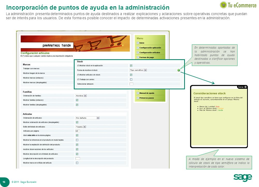 Incorporación de puntos de ayuda en la administración