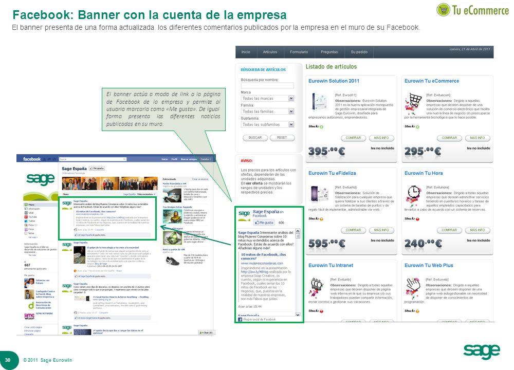 Facebook: Banner con la cuenta de la empresa