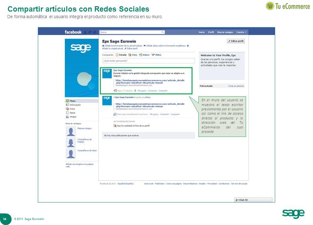 Compartir artículos con Redes Sociales