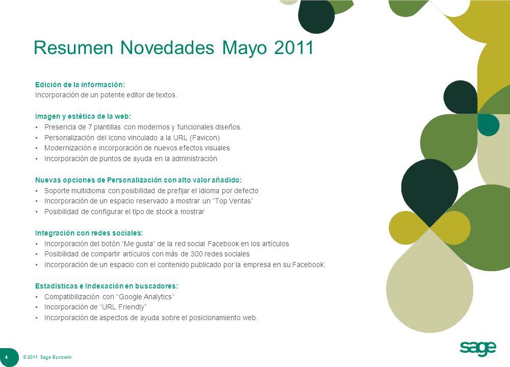 Resumen Novedades Mayo 2011