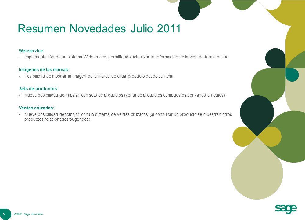Resumen Novedades Julio 2011