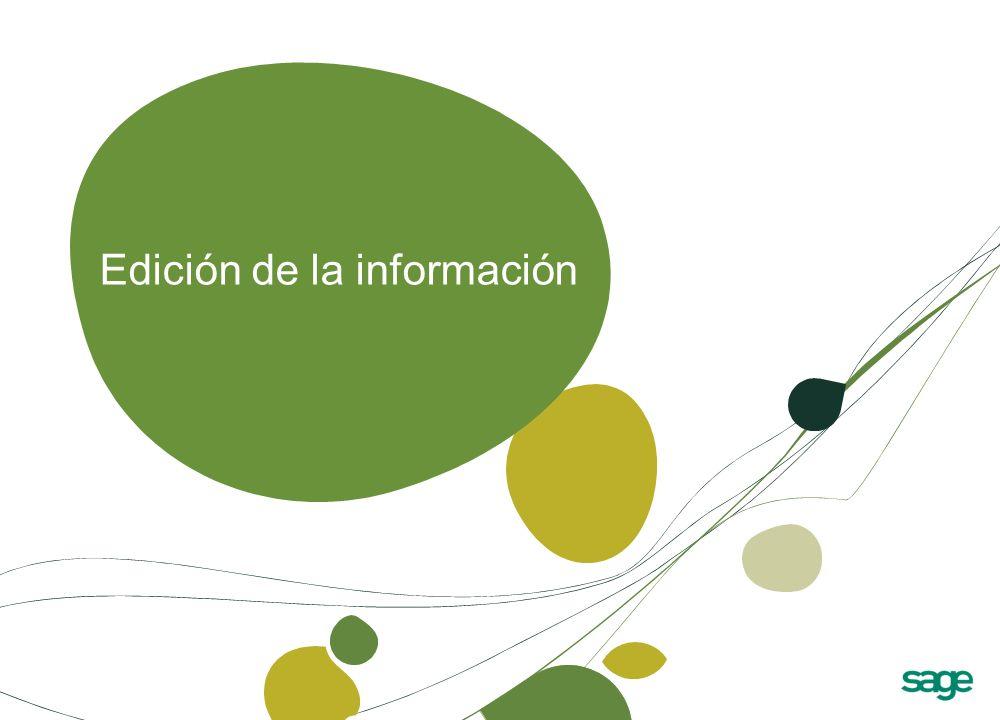 Edición de la información