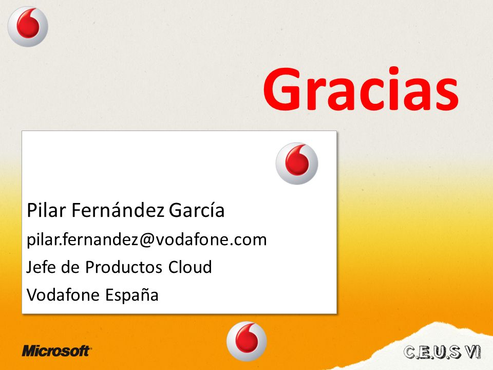 Gracias Pilar Fernández García pilar.fernandez@vodafone.com