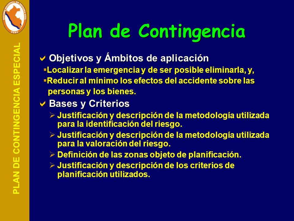 Plan de Contingencia Objetivos y Ámbitos de aplicación