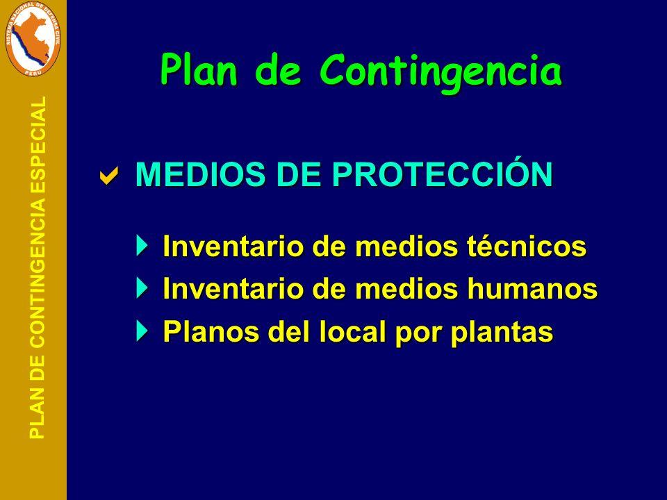 Plan de Contingencia MEDIOS DE PROTECCIÓN