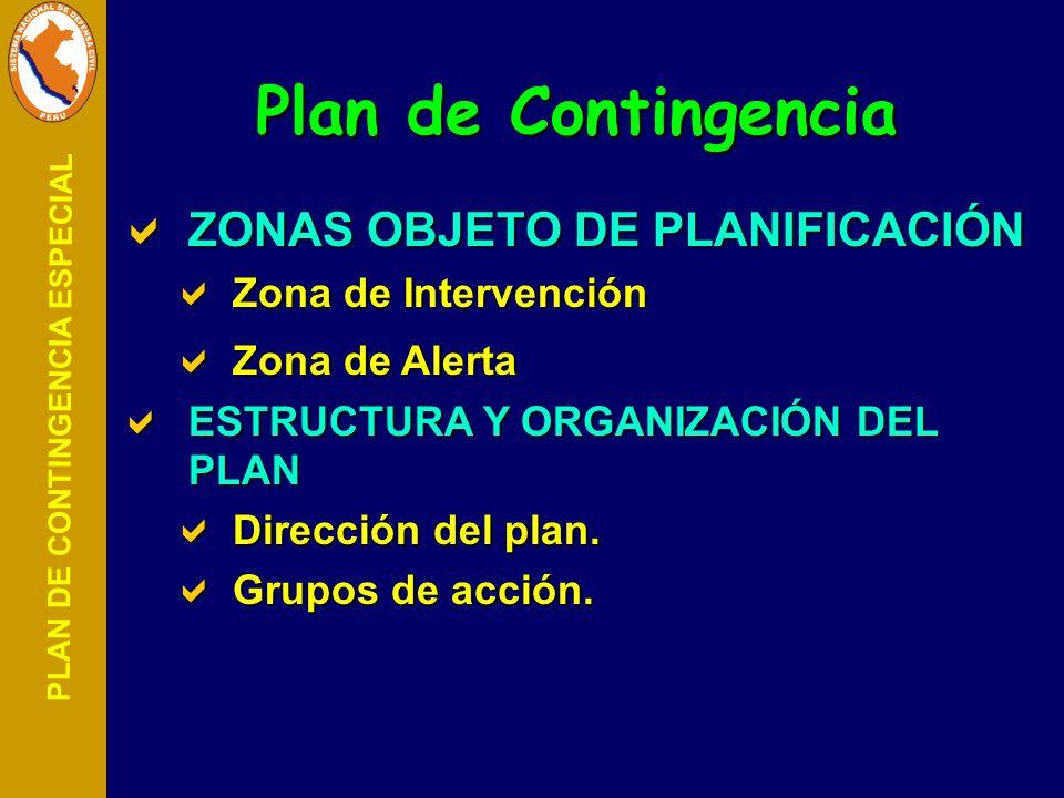 Plan de Contingencia ZONAS OBJETO DE PLANIFICACIÓN