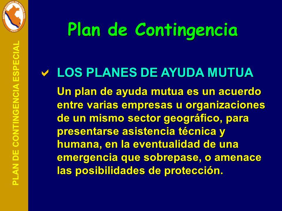 Plan de Contingencia LOS PLANES DE AYUDA MUTUA