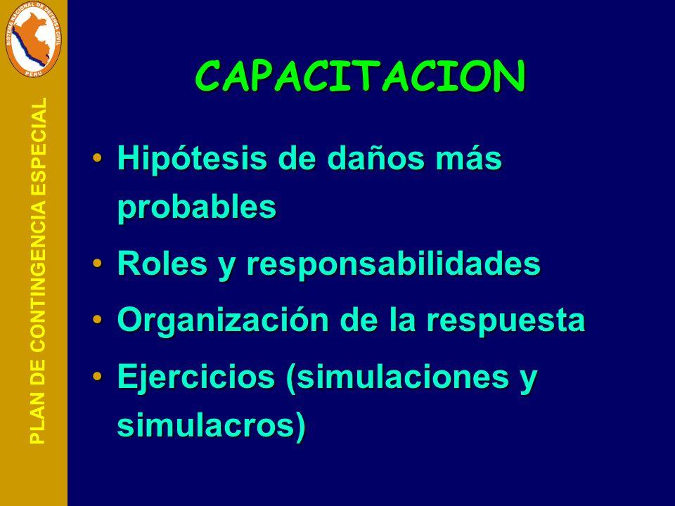 CAPACITACION Hipótesis de daños más probables