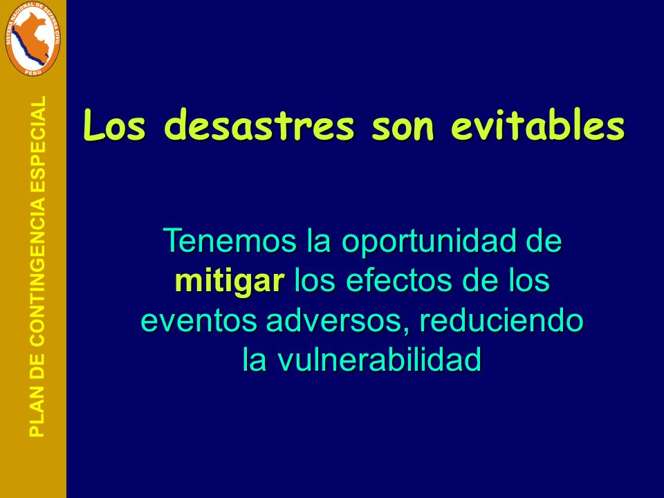 Los desastres son evitables
