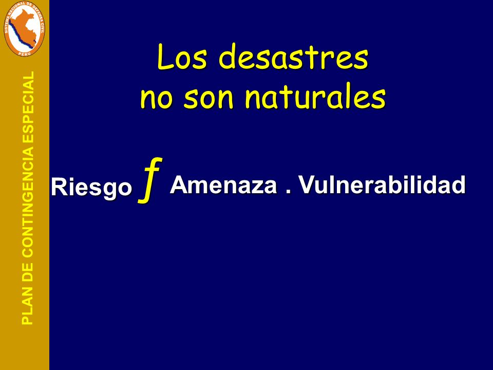 Los desastres no son naturales
