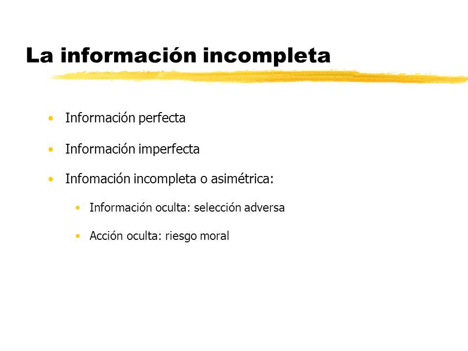 La información incompleta