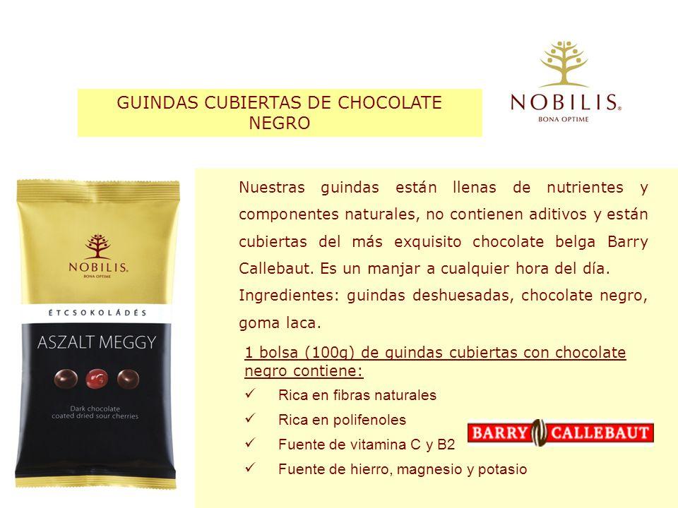 GUINDAS CUBIERTAS DE CHOCOLATE NEGRO