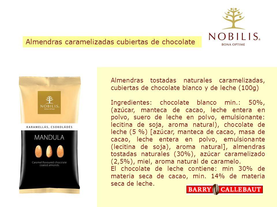 Almendras caramelizadas cubiertas de chocolate