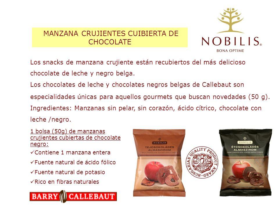 MANZANA CRUJIENTES CUIBIERTA DE CHOCOLATE