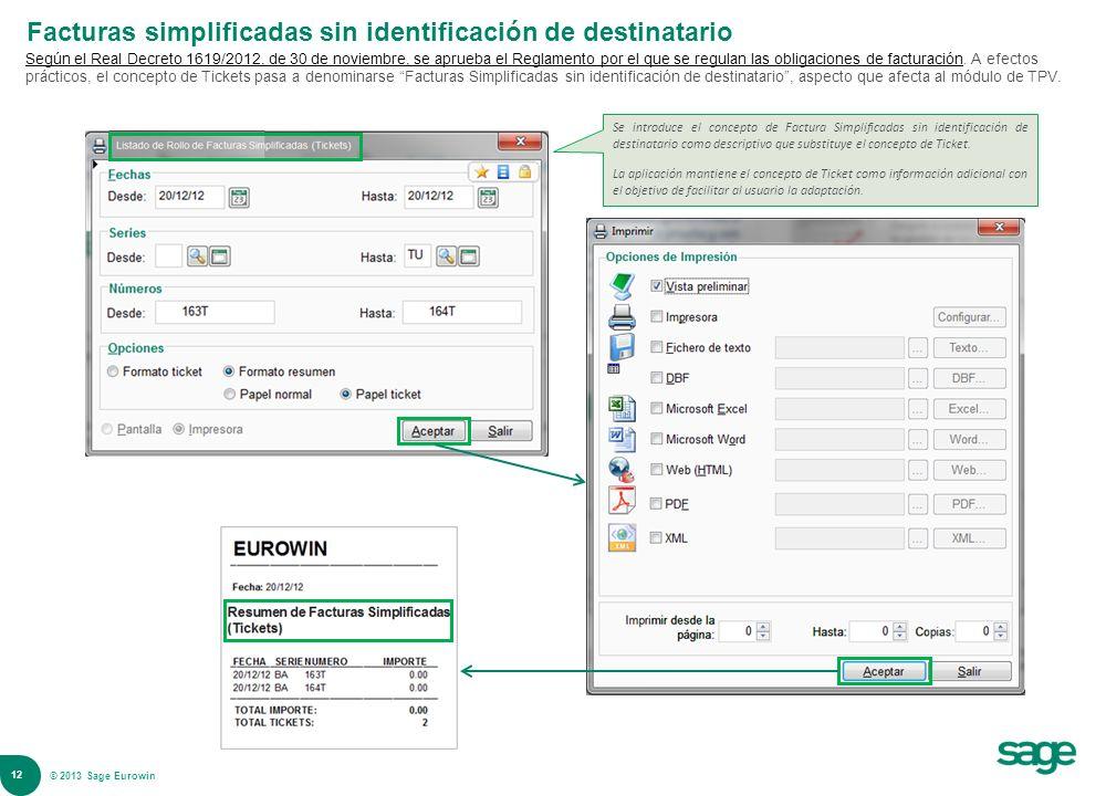 Facturas simplificadas sin identificación de destinatario