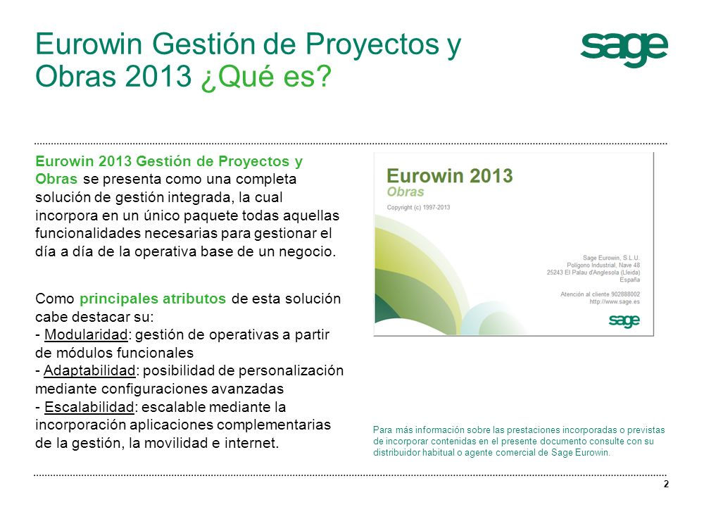 Eurowin Gestión de Proyectos y Obras 2013 ¿Qué es