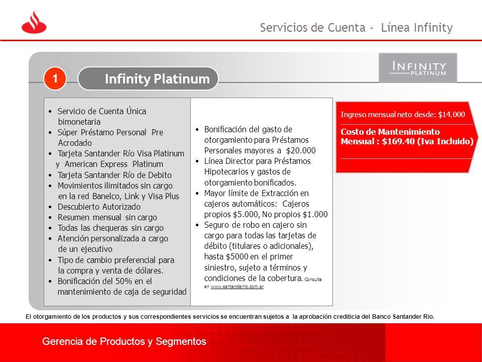 Infinity Platinum Servicios de Cuenta - Línea Infinity 1
