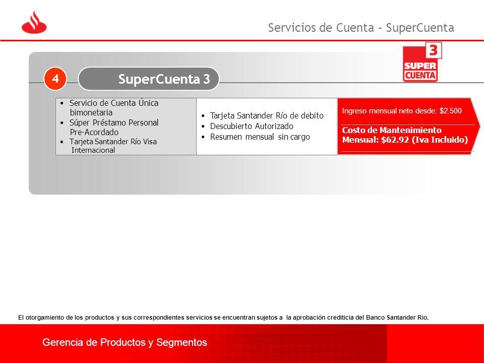 SuperCuenta 3 Servicios de Cuenta – SuperCuenta 4