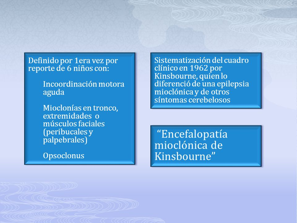 Encefalopatía mioclónica de Kinsbourne