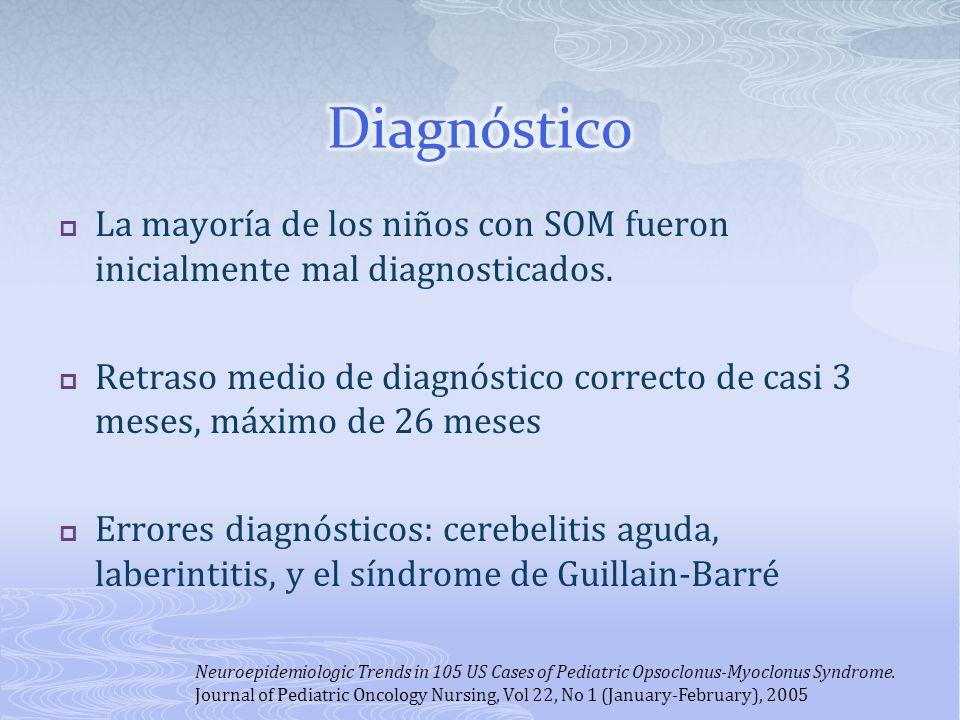 Diagnóstico La mayoría de los niños con SOM fueron inicialmente mal diagnosticados.