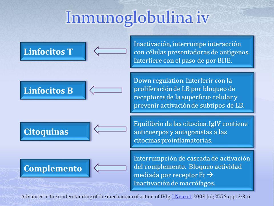 Inmunoglobulina iv Linfocitos T Linfocitos B Citoquinas Complemento