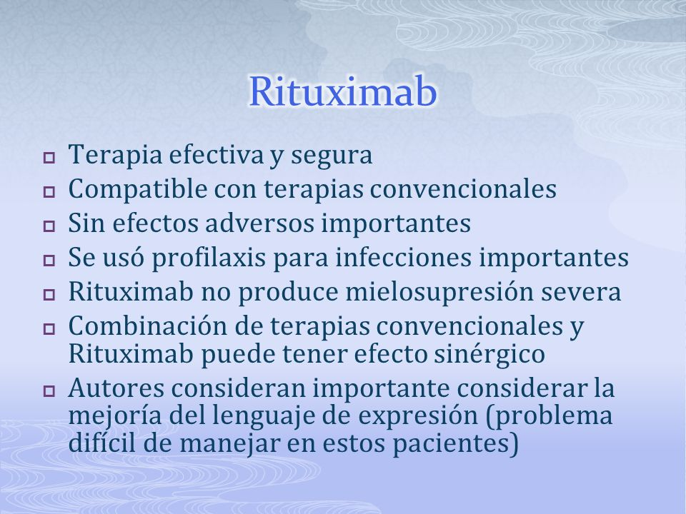 Rituximab Terapia efectiva y segura