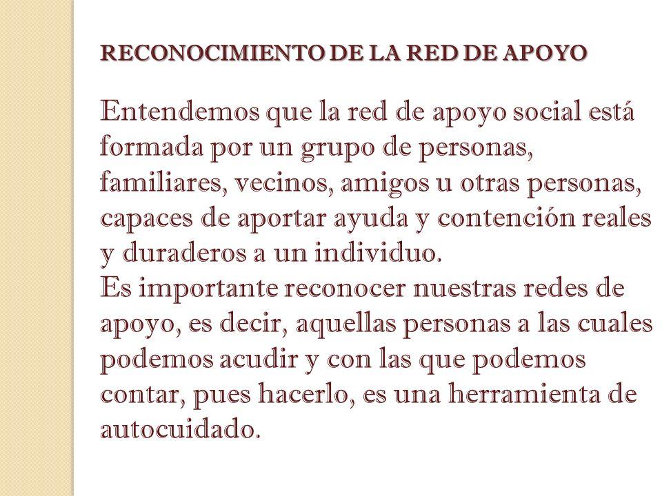 RECONOCIMIENTO DE LA RED DE APOYO
