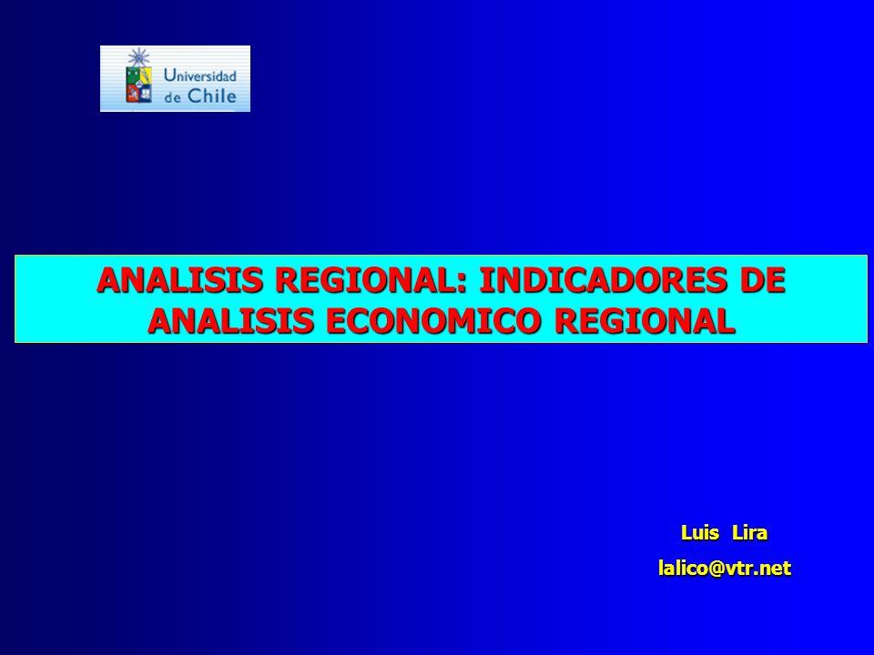 ANALISIS REGIONAL: INDICADORES DE ANALISIS ECONOMICO REGIONAL