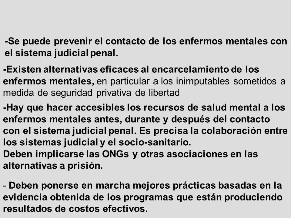 -Se puede prevenir el contacto de los enfermos mentales con el sistema judicial penal.