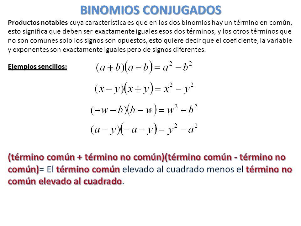 BINOMIOS CONJUGADOS