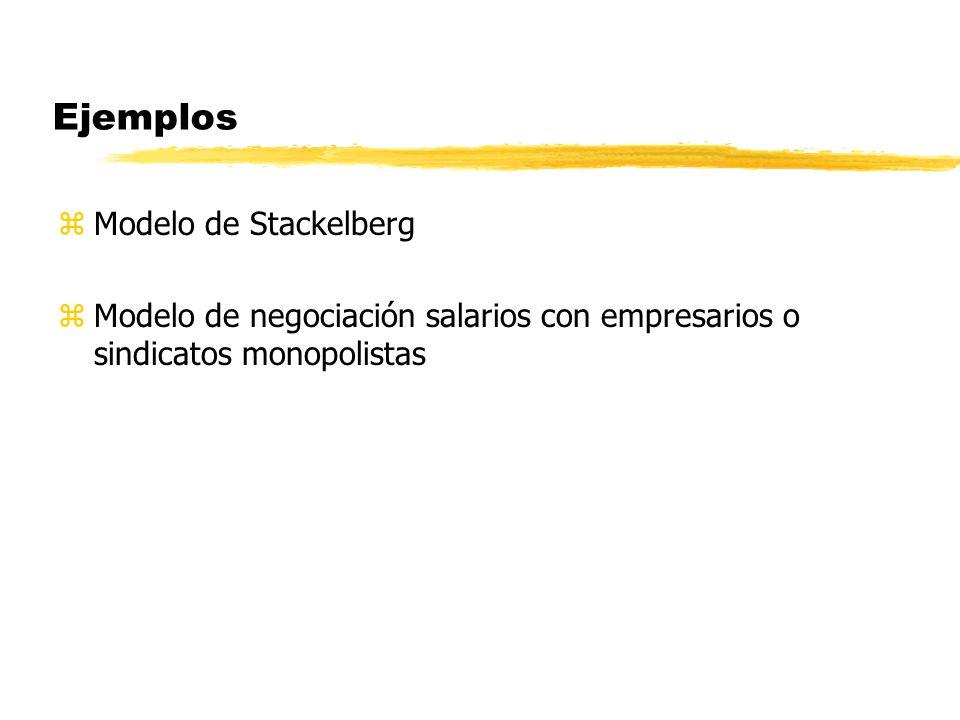 Ejemplos Modelo de Stackelberg