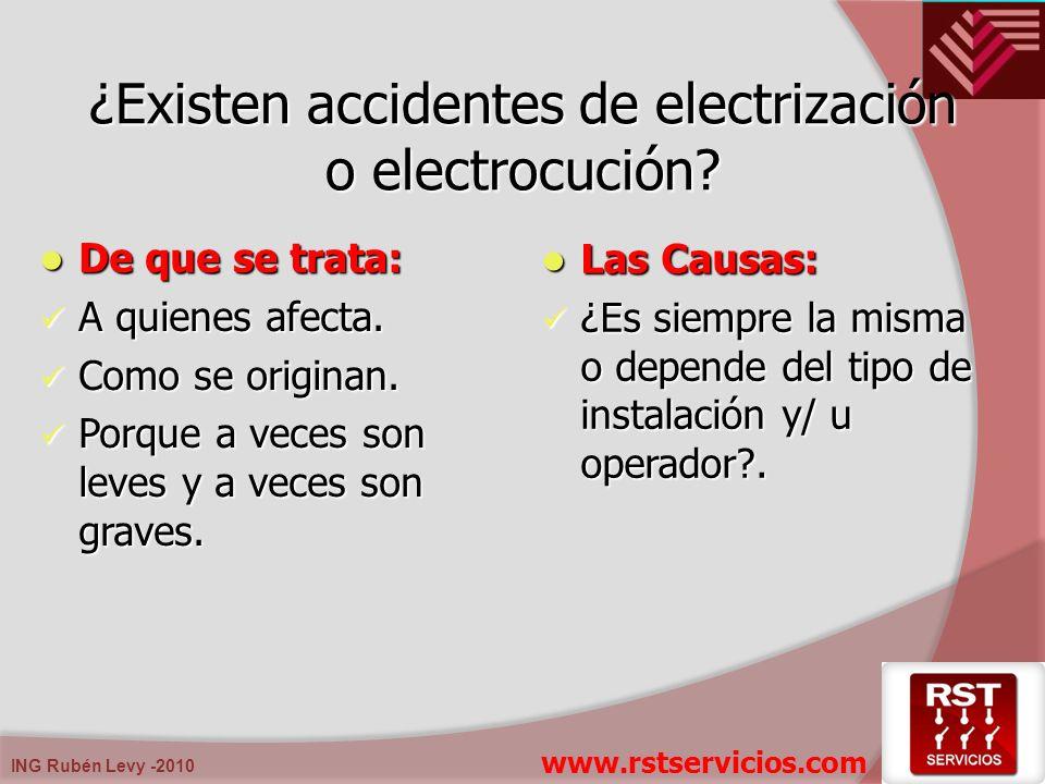 ¿Existen accidentes de electrización o electrocución