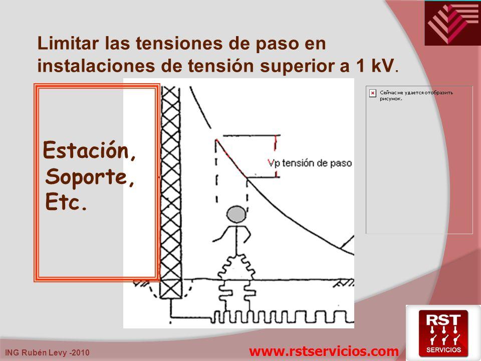 Limitar las tensiones de paso en instalaciones de tensión superior a 1 kV.