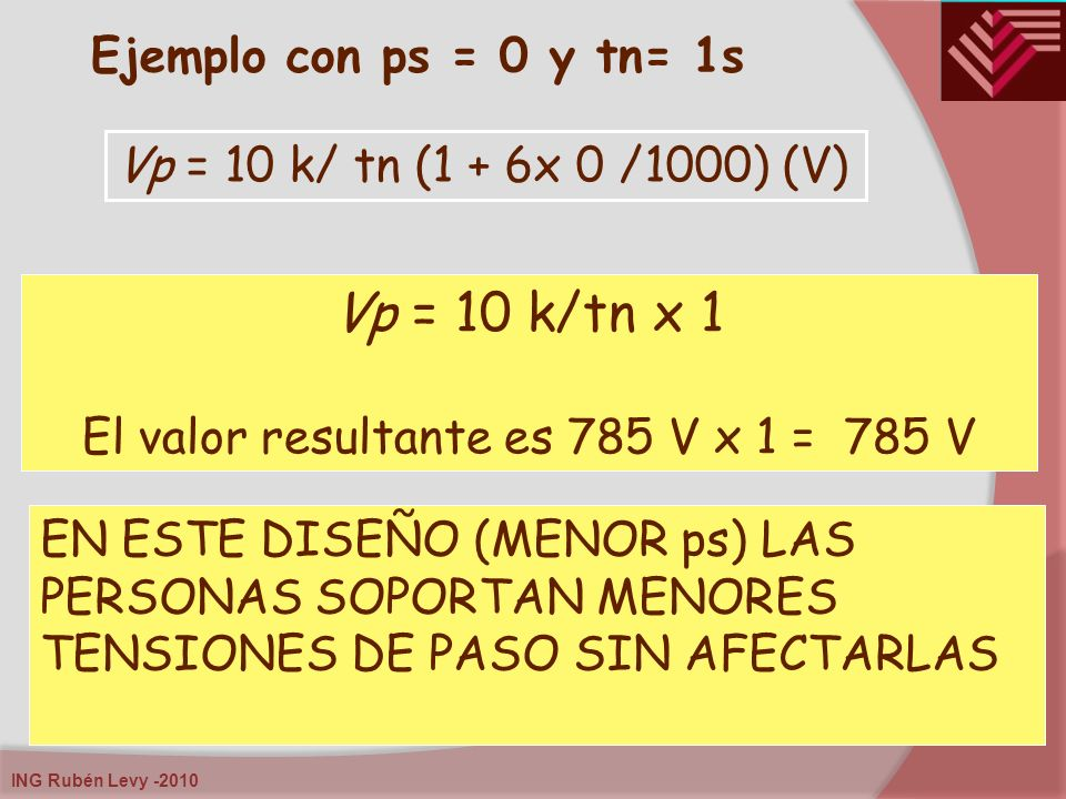 El valor resultante es 785 V x 1 = 785 V