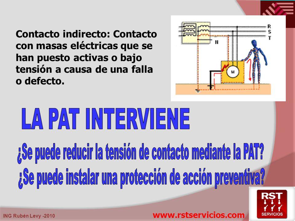 ¿Se puede reducir la tensión de contacto mediante la PAT