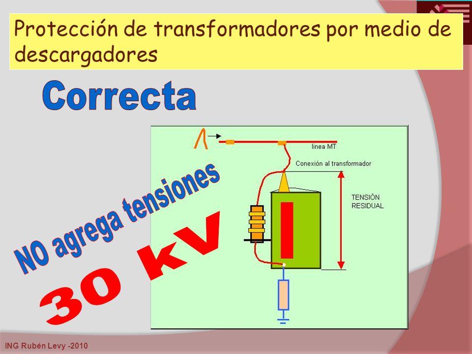Protección de transformadores por medio de descargadores