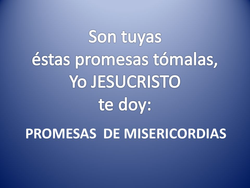 PROMESAS DE MISERICORDIAS