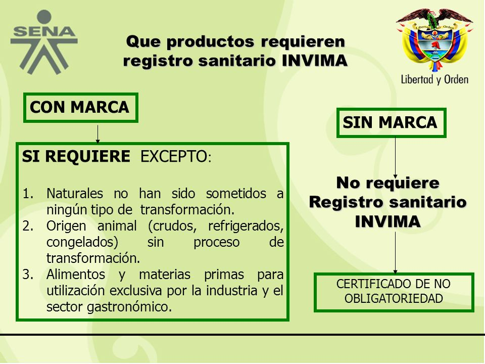 Que productos requieren registro sanitario INVIMA