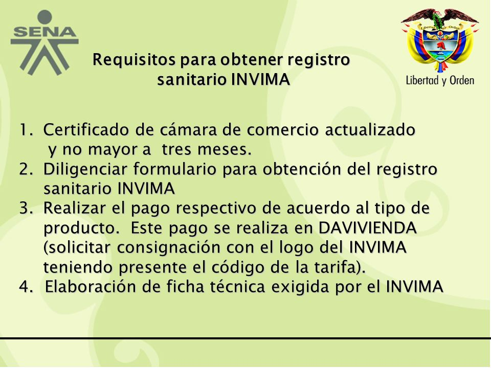 Requisitos para obtener registro