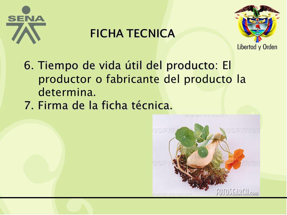 7. Firma de la ficha técnica.